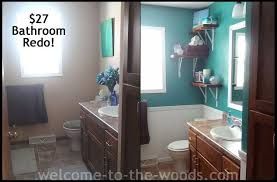 bathroom redo. bathroom redo for only 27, ideas, paint colors, repurposing upcycling, small r