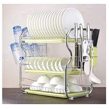 Standing Kitchen Dish <b>Rack</b>, 2 Tier Dish - Buy Online in Colombia at ...