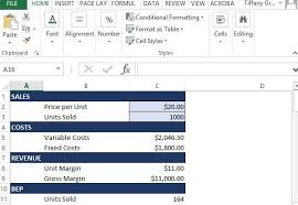How To Create A Simple Break-Even Analysis Using Excel