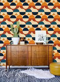 Retro Circles - removable wallpaper ...