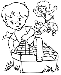 Small Picture Free Picnic Coloring Pages for Kids Enjoy Coloring Holiday