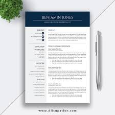 Good Font Modern Resume Professional And Modern Resume Template For Ms Office Word With User Guide And Fonts Guide For Instant Download The Benjamin Resume