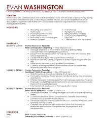 Resume For Human Resources Position. Human Resources Manager Cover ...
