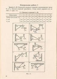 Техническая механика Методические указания и контрольные задания  Задачи 1 10 Определить реакции стрежней удерживающих грузы f1 и f2 Массой стержней пренебречь Схему своего варианта см из табл 1 1 рис 11