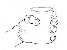 親指シンボルの手と手ガラスを握る手のジェスチャーのベクトル