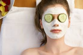 Girls geting a facial