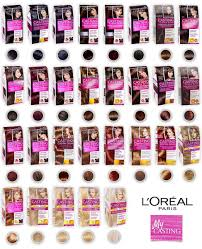 Loreal Casting Colour Chart