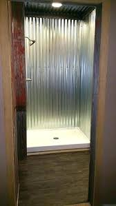 tin shower corrugated rusty tin shower curtain