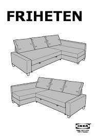 friheten corner sofa bed