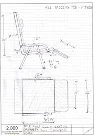 chair design drawing. Final Chair Design W/Dimensions Drawing