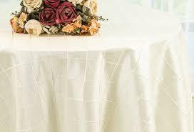 90 round pintuck taffeta tablecloth ivory 60602 1pc pk