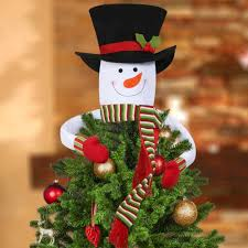 details about snowman tree topper head for diy home ornaments outdoor indoor hugger