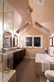 chandelier for cathedral ceiling awesome master bedroom ensuite c w vaulted ceiling and skylights photograph