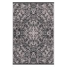 psychedelia black white lightweight indoor outdoor reversible plastic rug