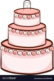 A Simple Drawing Of A Wedding Cake Royalty Free Vector Image