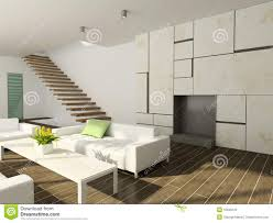 Modern Decorated Living Rooms 3d Render Modern Interior Of Living Room Stock Photos Image