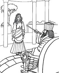 Queen Esther Coloring Page Story For Preschoolers Queen Coloring