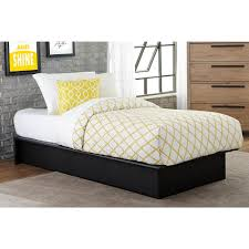 maven upholstered faux leather platform bed black multiple sizes