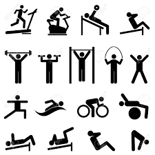 Fitness Health Exercise Fitness Health And Gym Icon Set