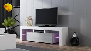 white tv stand modern. modern tv stand cm high gloss cabinet rgb led lights white unit grey bench black