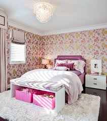 Girls Bedroom Design with Storage Bed Style
