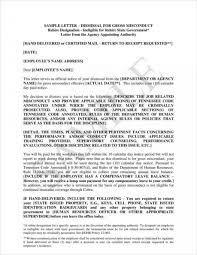 Letter Of Termination Employment Gross Misconduct Best