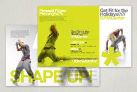 Contemporary Brochure Templates Contemporary Fitness Club Brochure