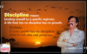 Discipline Means Binding Oneself To A Specific Regimen Aniruddha