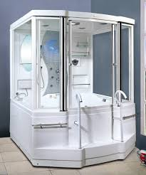 surprise whirlpool steam shower steam shower enclosure and whirlpool massage tub with 6 jets plus