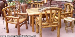 furniture made of wood. LOGP1-17 Patio Furniture Set From Indonesia Made Of Wood