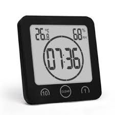 Ten Minutes Countdown 1 10 Minutes Countdown Waterproof Wall Clock With Sucker Thermometer