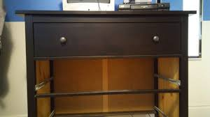 an ikea dresser with 2 missing drawers is no fun