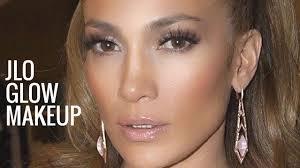 jlo glow makeup jennifer lopez makeup tutorial bronzy glowy makeup