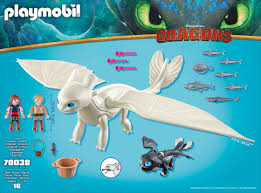 How To Train Your Dragon 3 Playmobil Light Fury Playmobil How To Train Your Dragon Iii Light Fury With Baby