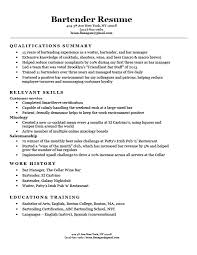 Bartender Resume Examples Best Bartender Resume Sample Writing Tips Resume Companion