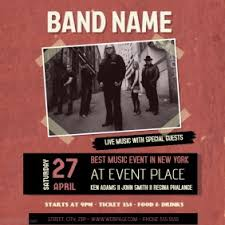 band flyer generator create band flyers free flyer maker postermywall