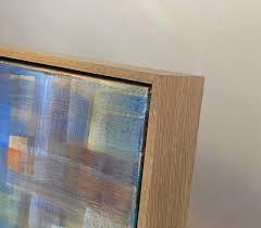 oak floating frame