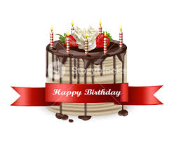 Happy Birthday Cake Vector Realistic 3d Detailed Illustration