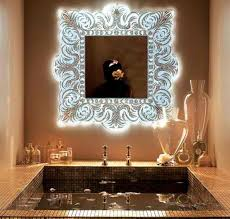 Small Picture House Designs Artistic and Elegant Wall Mirror with Glass Mosaic