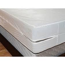 plastic mattress cover. Royal Mystique Vinyl Zippered Mattress Cover (Twin, 9\u0026quot; Depth) - Waterproof, Plastic I