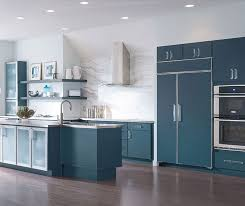 blue painted cabinets. Simple Painted Blue Painted Kitchen Cabinets By Decora Cabinetry  Intended Painted Cabinets I