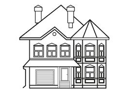 Huis Kleurplaat