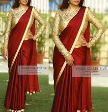 Simple Saree With Heavy Designer Blouse 16 Awesome Ways To Wear Plain Sarees With Heavy Blouse
