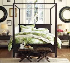 if only the bedding is consistent with our tropical theme home design ideas with palm frond prints inspiration from the tropics