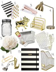 White And Gold Decor Black White Gold Office Decor