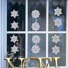 Fensterbilder Set Fensterdeko Schneeflocken Design Für