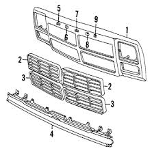 dodge truck parts mopar parts jim s auto parts b 1991 1993 dodge ram grille components