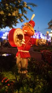 Scarecrow, part of the fall decorations at in the Magic Kingdom at the Walt  Disney