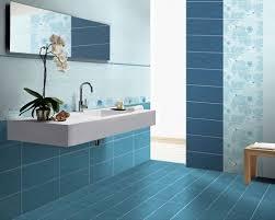 ceramic tile for bathroom floors: blue bathroomblue ceramic tilewall mounted sinkblue floor tile blue