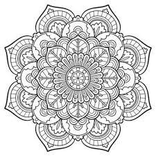 Snowflake Mandala Coloring Pages